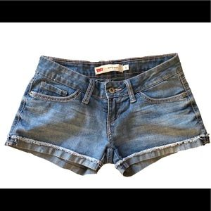 Size 0 Levi's Shorty Short Blue denim Jean shorts